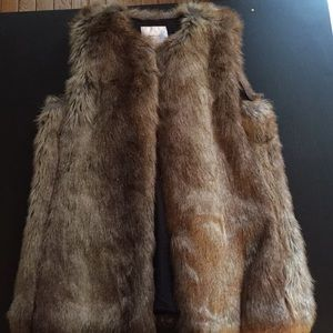 Zara Fur Vest Medium